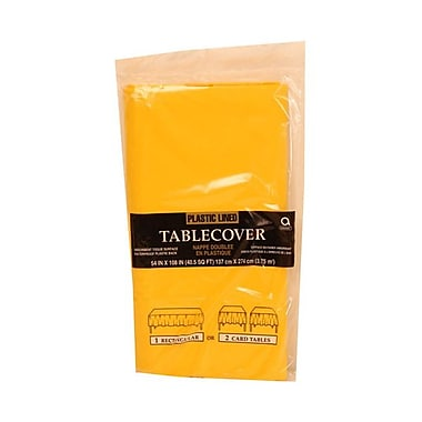 JAM Paper® Paper Table Covers, Yellow Table Cloths, Sold Individually (291323338)
