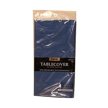 JAM Paper® Plastic Table Covers, Blue Table Cloths, Sold Individually (291423353)