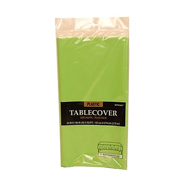 JAM Paper® Plastic Table Covers, Lime Green Table Cloths, Sold Individually (291423357)