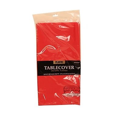 JAM Paper® Plastic Table Covers, Red Table Cloths, Sold Individually (291423360)