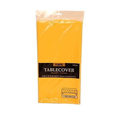 JAM Paper® Plastic Table Covers, Yellow Table Cloths, Sold Individually (291423362)