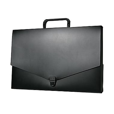JAM Paper® Briefcase, Small, 10 x 15 x 2, Black, 2/Pack (2015 027g)