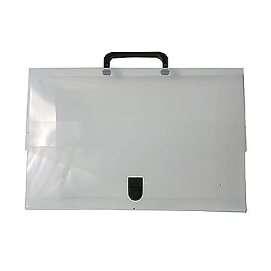 JAM Paper® 10in. x 15in. x 2in. Small Briefcase, Clear
