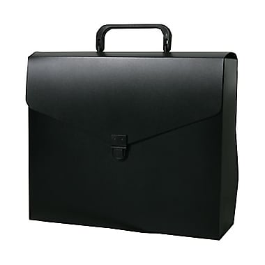 JAM Paper® Briefcase, 12 x 9.5 x 1.5, Black, 2/Pack (334120746g)