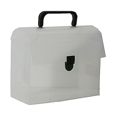 JAM Paper® 6in. x 9in. x 4in. Reusable Lunch Box, Clear Frost