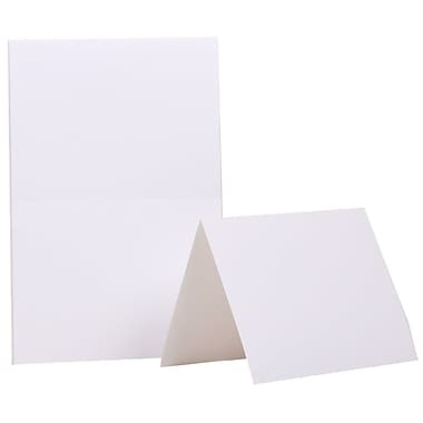 JAM Paper® 4 3/8in. x 5 7/16in. Smooth Blank Foldover Cards, Ivory, 500/Pack