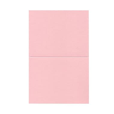 JAM Paper® Blank Foldover Cards, A2 size, 4 3/8 x 5 7/16, Baby Pink, 100/pack (330913101)
