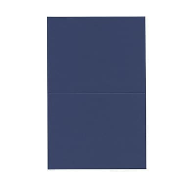 JAM Paper® Blank Foldover Cards, A2 size, 4 3/8 x 5 7/16, Presidential Blue, 100/pack (330913114)
