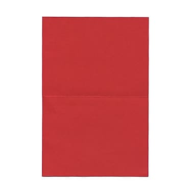JAM Paper® Blank Foldover Cards, A6 size, 4.63 x 6.25, Red Linen, 50/Pack (309930cg)