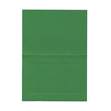 JAM Paper® Blank Foldover Cards, 4bar / A1 size, 3.5 x 4.88, White Linen Panel, 500/Pack (309899B)