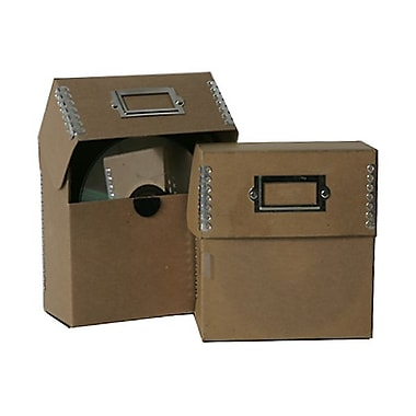 JAM Paper® CD Box, 5 x 5.5 x 2.5, Brown Kraft with Metal Edge, 3/Pack (6063 201g)