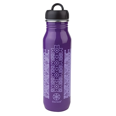 Gaiam® 25.36 oz. Taos Stainless Steel Water Bottle, Purple