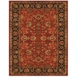 Feizy® Abbey Blended Pile and Fine Wool Border Rug, 8' x 8' Round, Red/Navy