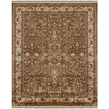 Feizy® Alegra Wool Pile Traditional Rug, 8' x 8' Round, Light Brown/Beige