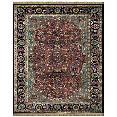 Feizy® Amore Wool Pile Traditional Rug, 8' x 8' Round, Plum