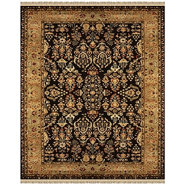 Feizy® Amore Wool Pile Traditional Rug, 5' x 8', Black/Gold