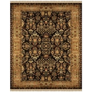 Feizy® Amore Wool Pile Traditional Rug, 8' x 11', Black/Gold