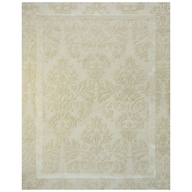 Feizy® Catalina Wool and Art Silk Pile Contemporary Rug, 8' x 8' Round, Ivory