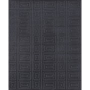 """Feizy® Christopher Pure Wool Pile Contemporary Rug, 5'6"""" x 8'6"""", Noir"""