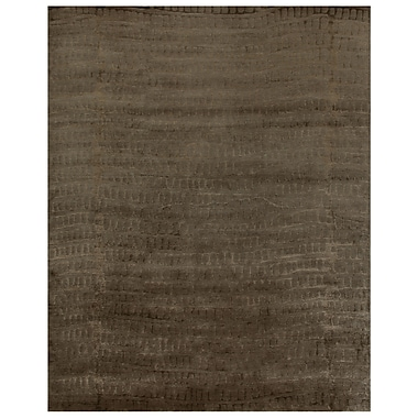 Feizy® Radiance Wool and Art Silk Pile Transitional Rug, 4' x 6', Slate