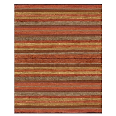 Feizy® Citizen Wool and Art Silk Pile Contemporary Rug, 8' x 11', Rust