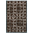 Feizy® Dim Sum™ Wool and Art Silk Pile Contemporary Rug, 7'9in. x 9'9in., Chocolate/Steel