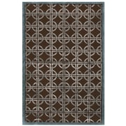 "Feizy® Tao Wool and Art Silk Pile Contemporary Rug, 8'6"" x 11'6"", Chocolate/Steel"