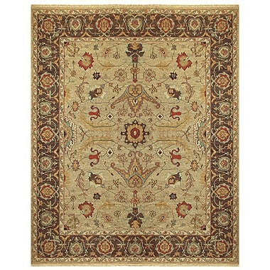 Feizy® Ihrin Pure Wool Pile Border Rug, 3'6