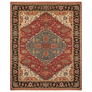 """Feizy® Ihrin Pure Wool Pile Traditional Rug, 9'6"""" x 13'6"""", Red/Black"""