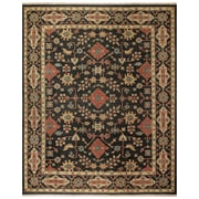 Feizy® Ihrin Pure Wool Pile Traditional Rug, 2' x 3', Black/Black