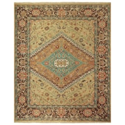 """Feizy® Ihrin Pure Wool Pile Traditional Rug, 3'6"""" x 5'6"""", Gold/Brown"""