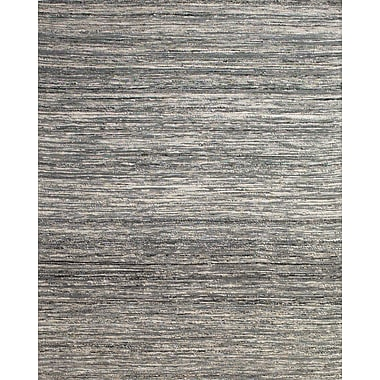 Feizy® Zambezi Art Silk and Backed Wool Cloth Transitional Rug, 5' x 8', Gray
