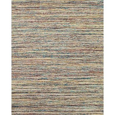 Feizy® Zambezi Art Silk and Backed Wool Cloth Transitional Rug, 2' x 3', Teal/Beige