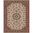 Feizy® Daria Polypropylene Fiber Pile Traditional Rug, 4' x 6', Cream/Red