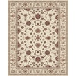 Feizy® Daria Polypropylene Fiber Pile Traditional Rug, 2'10in. x 8', Cream/Cream