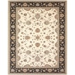Feizy® Daria Polypropylene Fiber Pile Traditional Rug, 2'10in. x 8', Cream/Navy