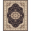 Feizy® Daria Polypropylene Fiber Pile Traditional Rug, 2'10in. x 8', Navy/Cream