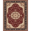 Feizy® Daria Polypropylene Fiber Pile Traditional Rug, 2'10in. x 8', Red/Navy