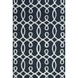 Feizy® Amalzari Pure Wool Pile Contemporary Rug, 2' x 3', Navy/White