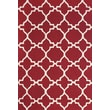 Feizy® Amalzari Pure Wool Pile Contemporary Rug, 7'6in. x 9'6in., Red/White
