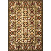 "Feizy® Uttur Polypropylene Fiber Pile Traditional Rug, 5' x 7'6"", Sand/Light Gold"