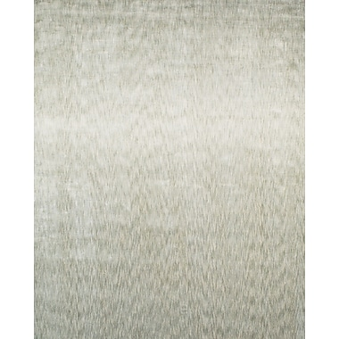 Feizy® Sur Art Silk Pile Transitional Rug, 4' x 6', Ivory