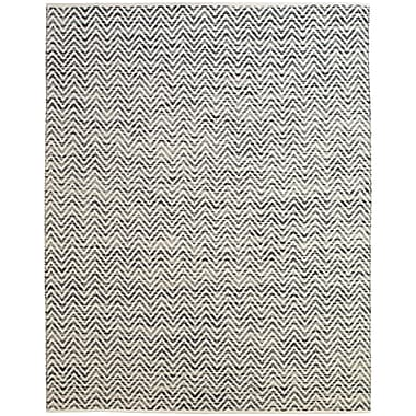 Feizy® Gobi Cotton and Wool Contemporary Rug, 2' x 3', Dark Blue/Gray