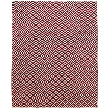 Feizy® Gobi Cotton and Wool Contemporary Rug, 8' x 11', Red