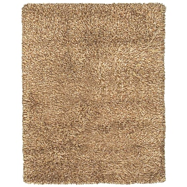 Feizy® Melrose Winds Wool/Cotton and Art Silk Shag Pile Contemporary Rug, 8' x 11', Caramel