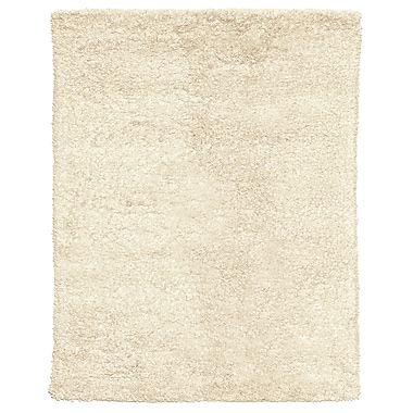 Feizy® Melrose Winds Wool/Cotton and Art Silk Shag Pile Contemporary Rug, 6' Round, Ivory
