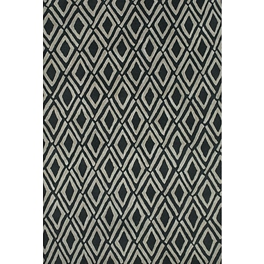 Feizy® Terresa Pure Wool Pile Contemporary Rug, 8' x 11', Gray/Black