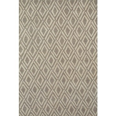 Feizy® Terresa Pure Wool Pile Contemporary Rug, 8' x 11', Light Gray