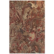 "Feizy® Salford Polypropylene Fiber Pile Floral Rug, 10' x 13'2"", Crimson/Multi"