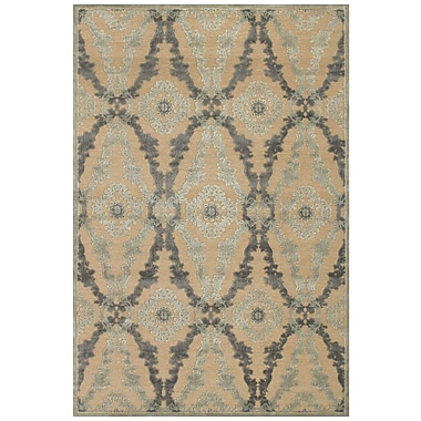 Feizy® Soho Art Silk Pile Contemporary Rug, 7'6in. x 7'6in. Round, Ivory/Silver